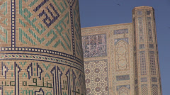 Silk Road architecture Stock Footage
