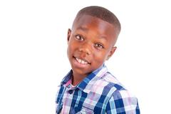 Stock Photo of african american boy looking  - black people