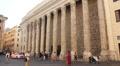 Temple of Hadrian, Rome Footage