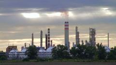 Oil refinery in Bratislava, Slovakia - stock footage
