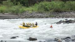 Whitewater rafting on Pastaza river, Ecuador Stock Footage