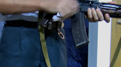 Rifle demonstration Stock Footage