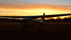 Airport Sunrise Stock Footage