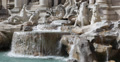 Ultra HD 4K Trevi Fountain Fontana Rome, Italy detail, figure, horse Footage