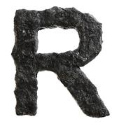 Coal font - stock illustration