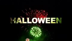 Halloween fireworks 02 Stock Footage