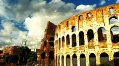 Time lapse of Colosseo, Rome, Italy Stock Footage