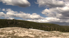 Time Lapse of Clouds, Shadows and Landscape in Yellowstone National Park Wyoming Stock Footage