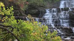Cascading Waterfalls Stock Footage