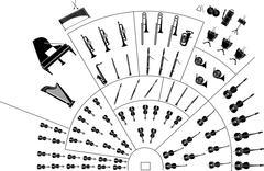 Philharmonic orchestra Stock Illustration