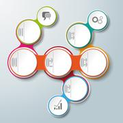 Stock Illustration of circle chain 3 options attachment