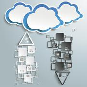 Stock Illustration of stream dust black and white blue clouds piad