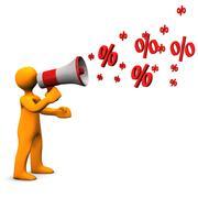 Manikin bullhorn discount Stock Illustration