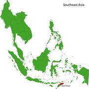 East Timor map - stock illustration