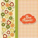 Stock Illustration of bon appetite card with fruits