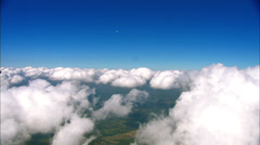 Flying Around Clouds WS Stock Footage