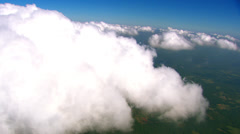 Flying Around Clouds Stock Footage