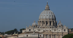 Ultra HD 4K St. Peter's Basilica, Vatican City, Rome Italy, papa benedict Stock Footage