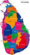 Sri Lanka map - stock illustration