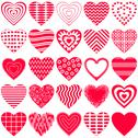 Stock Illustration of valentine heart, set