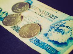 retro look ddr banknote - stock photo