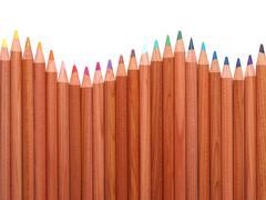 Colored crayons Stock Photos