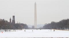 US Washington Monument Mail Stock Footage