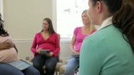 Stock Video Footage of Pregnant Women Meeting At Ante Natal Class