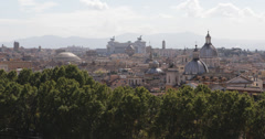 Ultra HD 4K Aerial View Rome Skyline Vittorio Emanuele II Altar Houses Roofs  Stock Footage