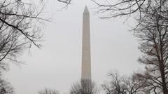 US Washington Monument MCU Stock Footage