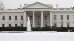 Yhdysvaltain Valkoinen talo Front Clean Arkistovideo