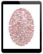 Business Black Tablet With Fingerprint Access Stock Illustration