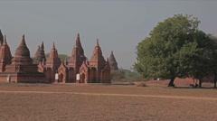 Bagan - pagodas Stock Footage