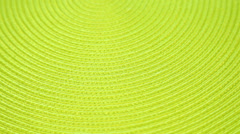 Green table cloth oval background - stock footage
