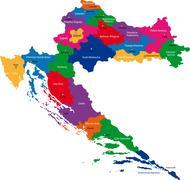 Croatia map - stock illustration