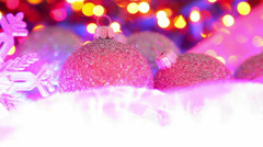 Christmas ball festive background Stock Footage