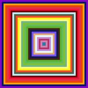 decreasing size colorful square frames abstract background. - stock illustration