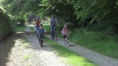 Family On Cycle Ride In Countryside Stock Footage