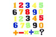 Stock Photo of plastic numbers isolated on white