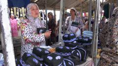 Traditional and conservative market in Uzbekistan - stock footage