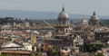 Ultra HD 4K Aerial View Rome Cityscape, centre, central, old, buildings day Footage