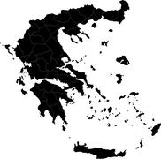 Black Greece map - stock illustration