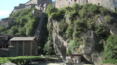 Fort Bard, Aosta Valley, Italy Stock Footage