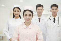 Portrait of Four Healthcare workers, China Stock Photos