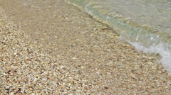 greece tranquil sea water waves and sand beach - stock footage