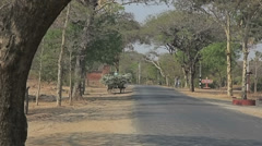 Road in old Bagan Stock Footage
