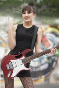 Young Punk Rock Girl Kuvituskuvat