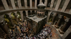 Church of the holy sepulchre 0913 1 Stock Footage