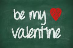 Stock Illustration of be my valentine phrase