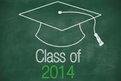 conceptual class of 2014 statement - stock illustration